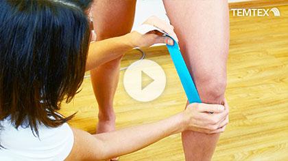 Tejpovanie kolenného väzu