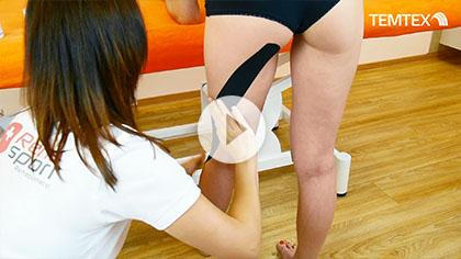 Tejpovanie zadného stehenného svalu